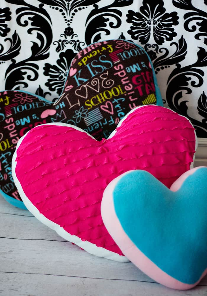 Heart Pillow Tutorial And Free Pattern Fleece Fun